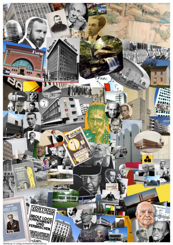 Collage Architektur Funktionalismus R W